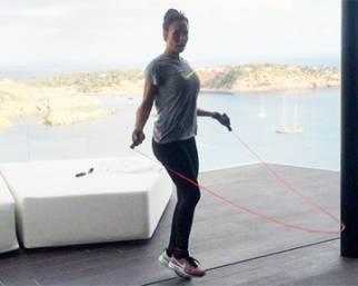 Nicole Minetti, fitness a Ibiza