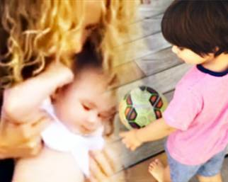 Shakira, Milan e Sasha sulle orme di Gerard Piqué
