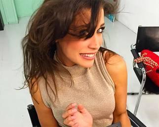 Ludovica Frasca, 'happy' nel camerino di Striscia la Notizia