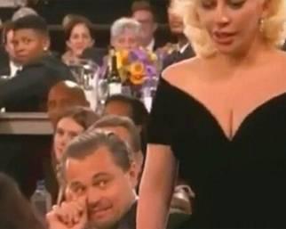 La gaffe tra Leonardo Di Caprio e Lady Gaga