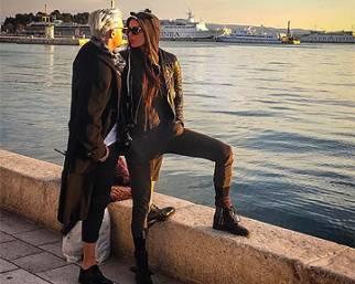 Nina Moric, in Croazia con Favoloso per sfilare
