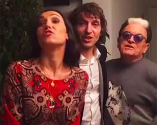 Caterina Balivo, una sera a cena con Malgioglio e Cruciani