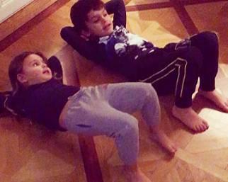 Liam e Tal: i figli di Claudia Galanti si allenano