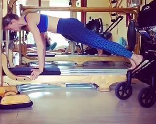 Elena Santarelli, sempre gyrotonic per stare in forma