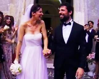 Le nozze tra Andrea Delogu e Francesco Montanari