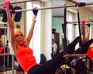 Donatella Versace 'distrutta' dal pilates