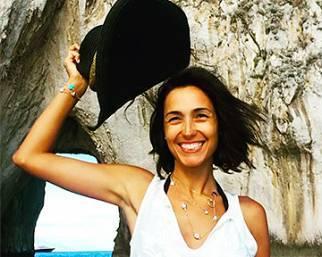 Caterina Balivo scatenata in barca