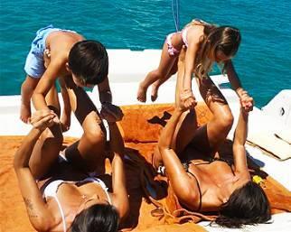 Claudia Galanti, fitness a bordo sullo yacht