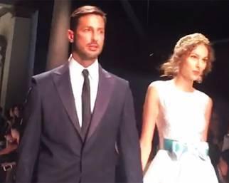 Fabrizio Corona in passerella da sposo