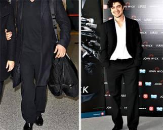 Riccardo Scamarcio sempre con i pantaloni larghi