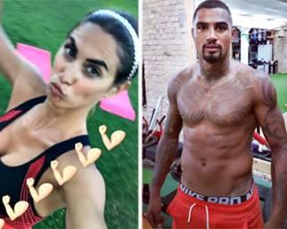 Melissa Satta e Kevin Prince Boateng: allenamento a distanza