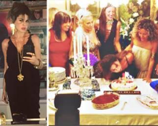 Alba Parietti scatenata al suo party di compleanno