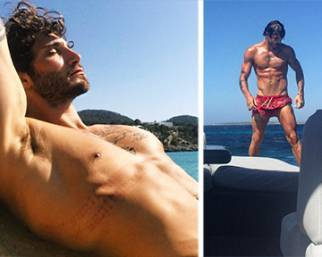 Stefano De Martino, fisico bestiale ad Ibiza