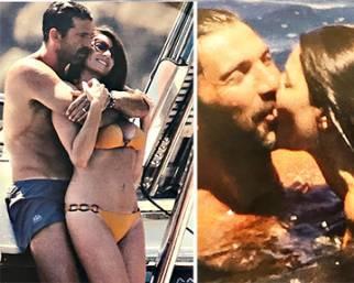 Gigi Buffon e Ilaria D'Amico, passione in alto mare