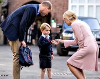 George d'Inghilterra, a scuola con il papà