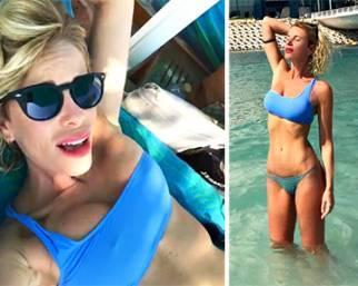 Alessia Marcuzzi, l'inverno inizia in bikini