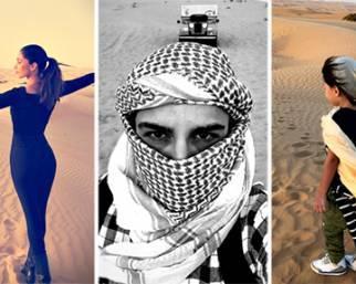 Belen e Iannone, fuga nel deserto con Santi