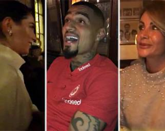 Melissa Satta, compleanno a cena con Boateng e la Salvemini