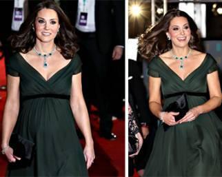Kate Middleton incinta ai Bafta 2018