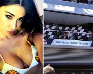 Belen e Iannone al Gran Premio di Spagna