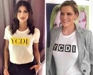 Simona Ventura, testimonial delle t-shirt di Nicoletta Larini