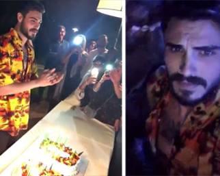 Francesco Monte, a Milano super festa di compleanno per i 30 anni
