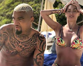 Melissa Satta e Kevin Prince Boateng a Ibiza in vacanza