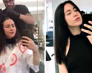 Aurora Ramazzotti, cambio look: capelli neri