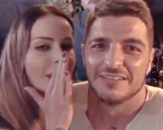 Nina Moric e Luigi Mario Favoloso insieme a Zagabria