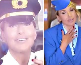 Barbara D'Urso diventa Britney Spears