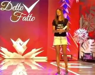 Bianca Guaccero, emozionata nello studio di Detto Fatto