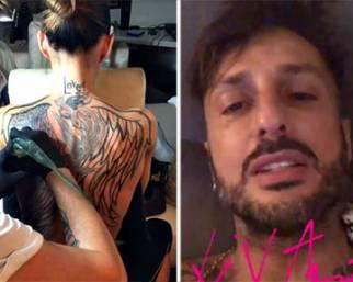 Nina Moric, un nuovo tatuaggio dedicato a Corona