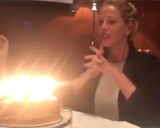 Alessia Marcuzzi, compleanno a Dubai