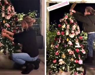 Alessia Marcuzzi fa l'albero insieme a Mia