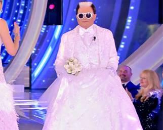 Malgioglio vestito da sposa