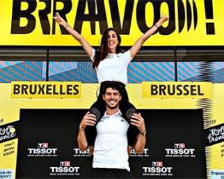 Cecilia Rodriguez e Ignazio Moser al Tour de France