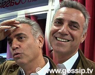 Massimo Ghini e un amico di nome Christian