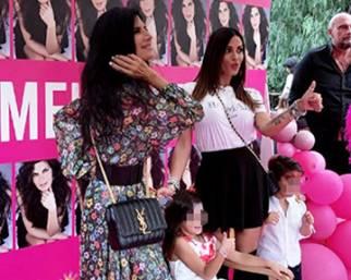 Guendalina Tavassi, festa a tema Pamela Prati per la figlia