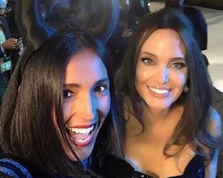 Caterina Balivo con Angelina Jolie