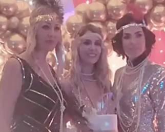Ilary Blasi alla festa di compleanno di Melory
