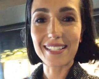 Caterina Balivo ha incontrato il Papa