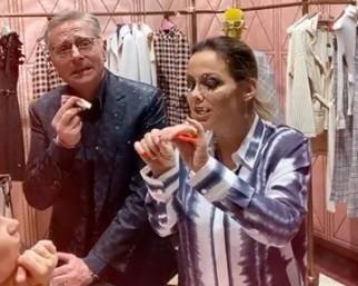 Sonia Bruganelli, compleanno nella boutique Gucci a Roma