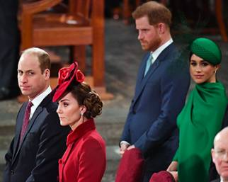 William e Kate ignorano Harry e Meghan