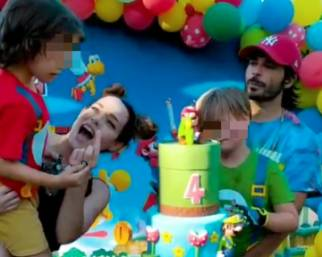 Chiatti e Bocci festeggiano il compleanno del figlio Pablo