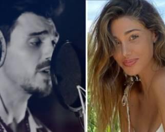 Francesco Monte cantante, la reazione di Belen