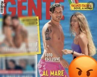 Blasi e Totti in difesa della figlia Chanel