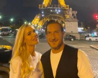 Totti e Blasi, weekend romantico a Parigi