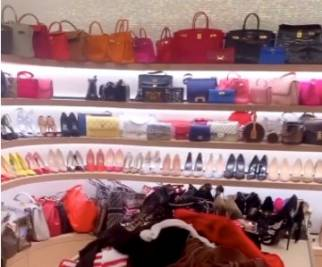 Wanda Nara, la cabina armadio di lusso