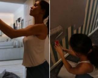 Belen dipinge da sola le pareti di casa: ecco perchè