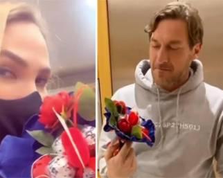 Ilary Blasi e Francesco Totti, San Valentino comico